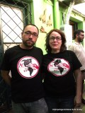 Hij@s Chile Yuri Gahona y Tamara Troncoso camiseta HIJOS mex oct 2010